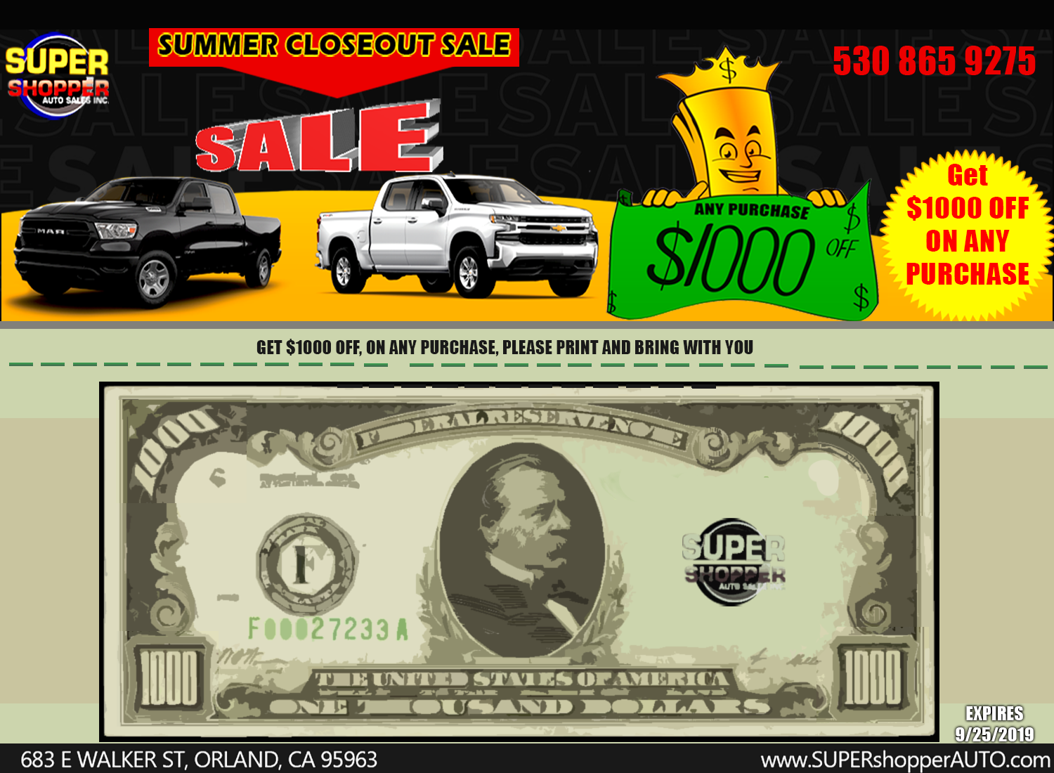 Orland Auto Auction >> Super Shopper Auto Sales Inc Orland Ca New Used Cars